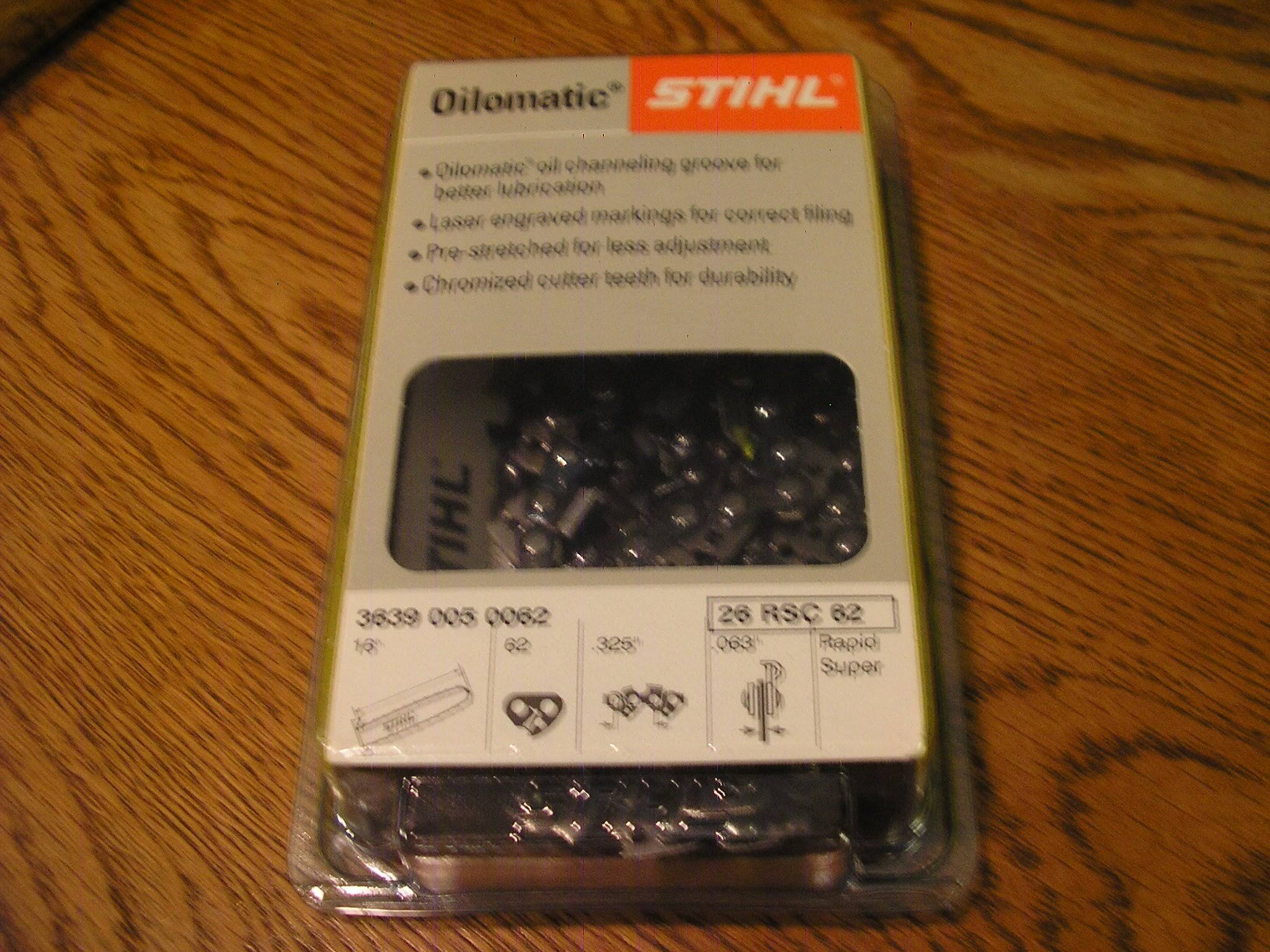 "Stihl Oilomatic 3 Saw Chain - 16"", 0.63 gauge"