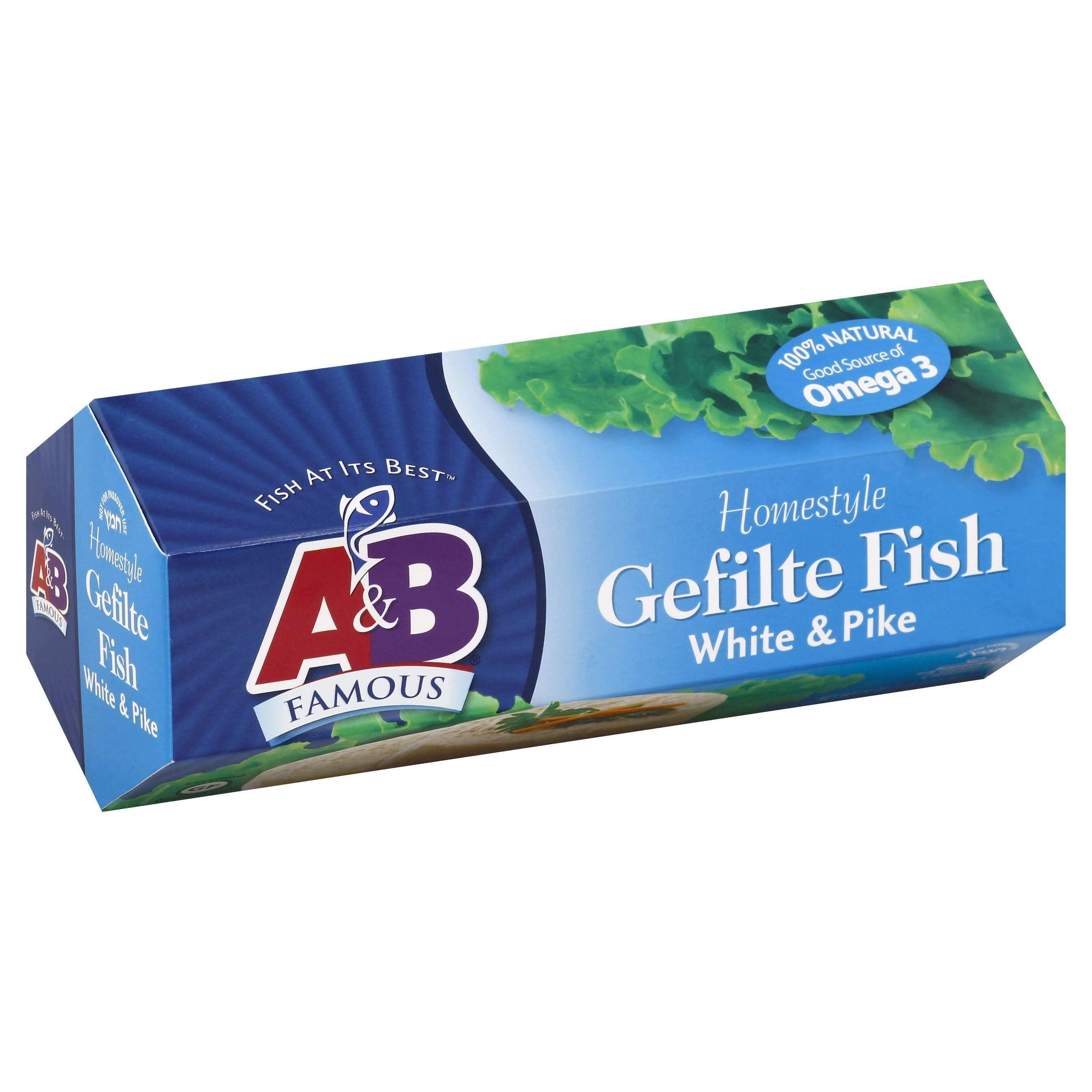 A & B Famous Gefilte Fish, Homestyle, White & Pike - 20 oz