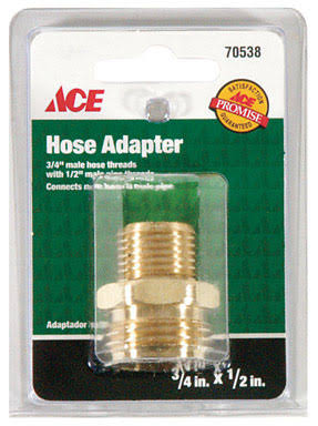 "Ace Hose Adapter - 3/4""x1/2"""