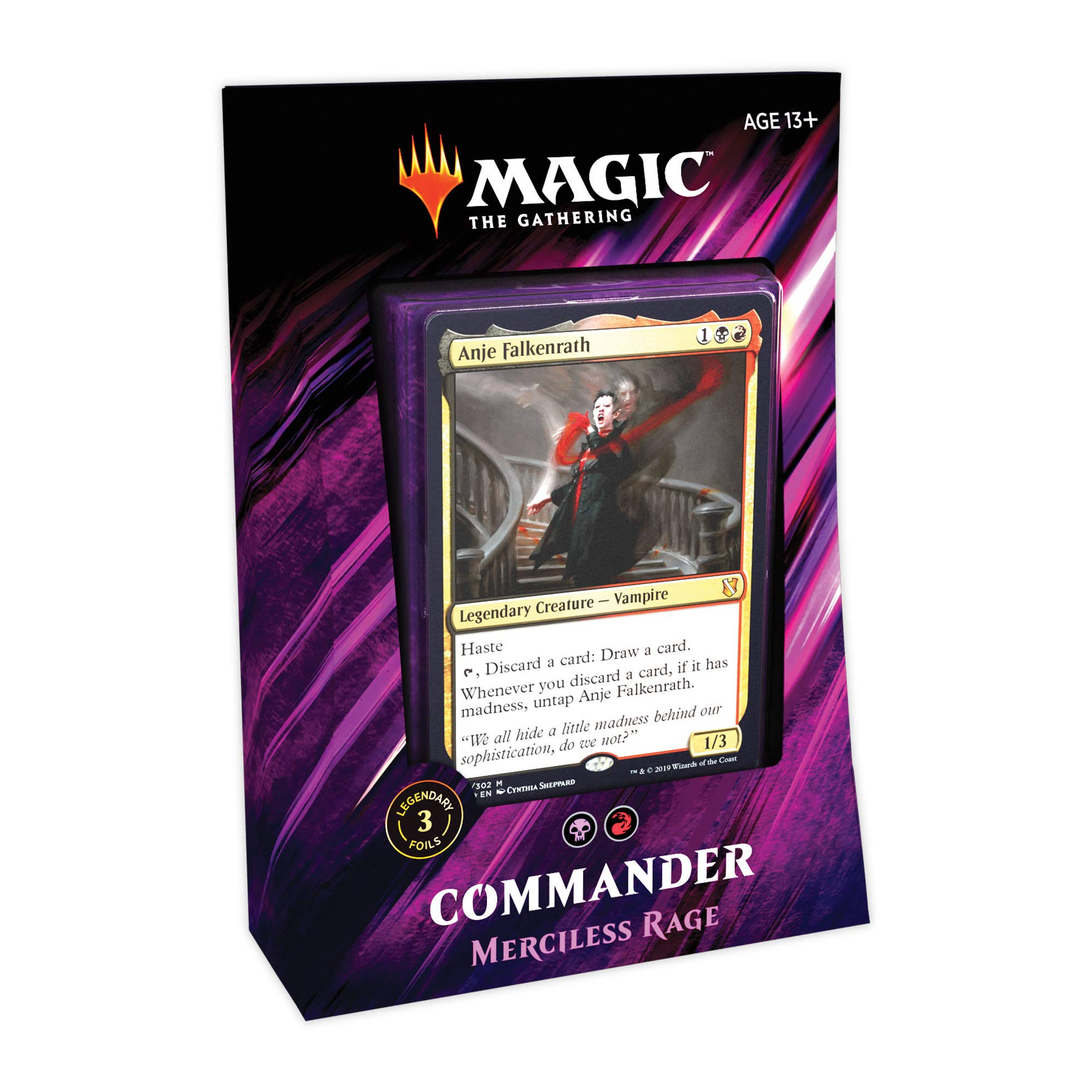 MTG: Commander 2019 Merciless Rage Trading Card Game