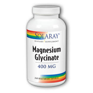 Solaray Magnesium Glycinate Supplement - 400mg, 240 Count