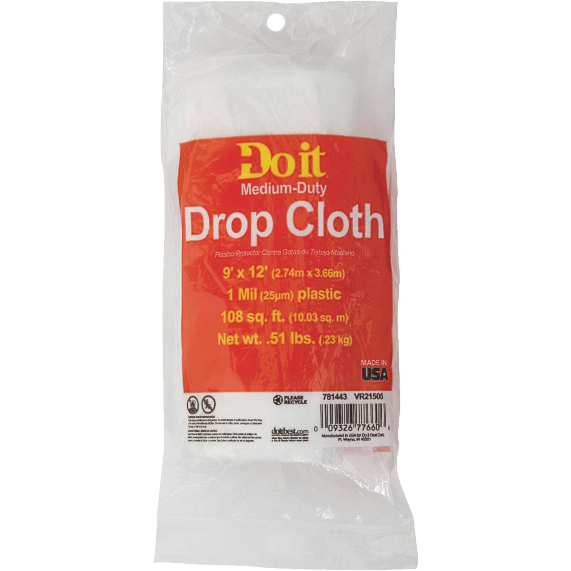 Do it Plastic Drop Cloth