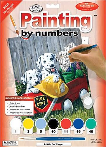 Royal & Langnickel Painting by Numbers Junior Small Art Activity Kit - Fire Waggin