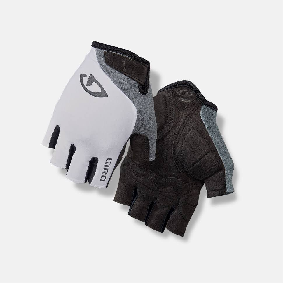 Giro Jagette Women's Fingerless Cycling Gloves - White/Titanium, Small