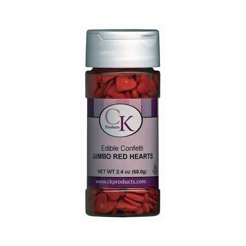 Ck Edible Confetti Sprinkles - Red Jumbo Hearts, 2.4oz