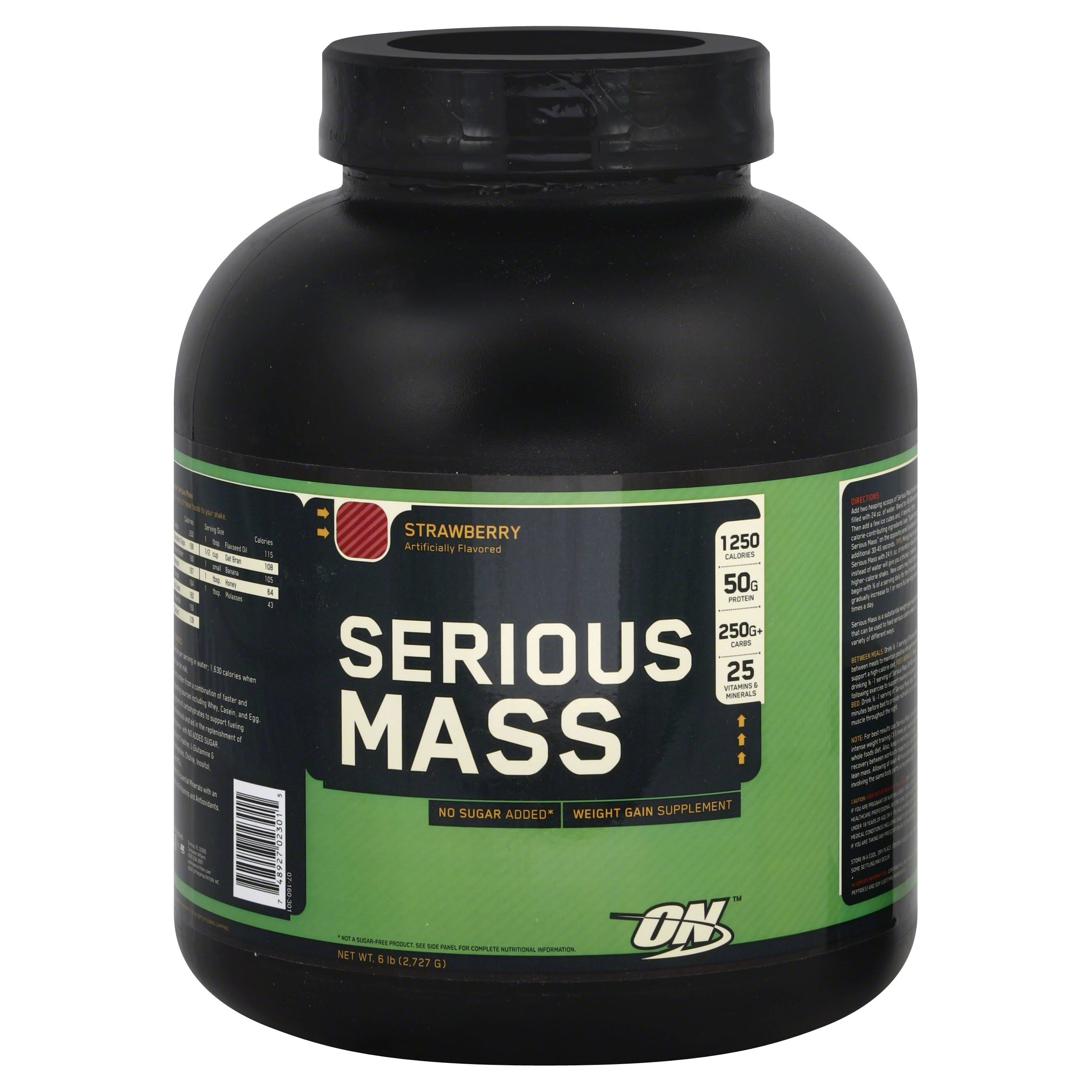 Optimum Nutrition Serious Mass Weight Gain Powder - Strawberry, 2.73kg