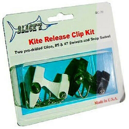 Black Marine RC60 Kite Release Clip Kit - 3 Pack