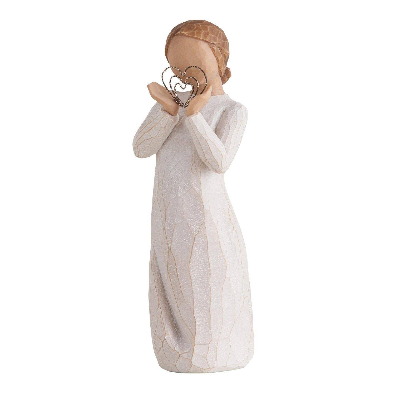 Willow Tree Figurine - Lots of Love Holding Hearts