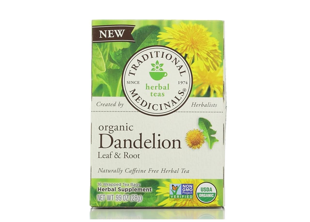 Traditional Medicinals Herbal Tea - Dandelion Leaf and Root, 16 Wrapped Tea Bags