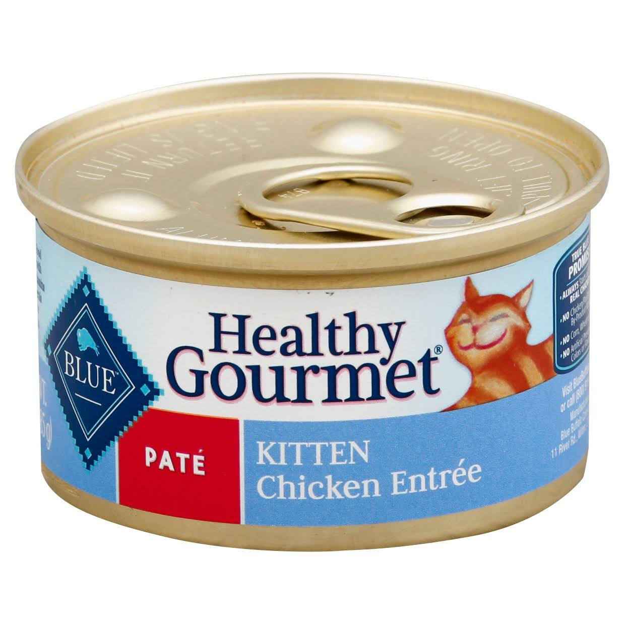 Blue Healthy Gourmet Food for Cats, Natural, Pate, Kitten, Chicken Entree - 3 oz