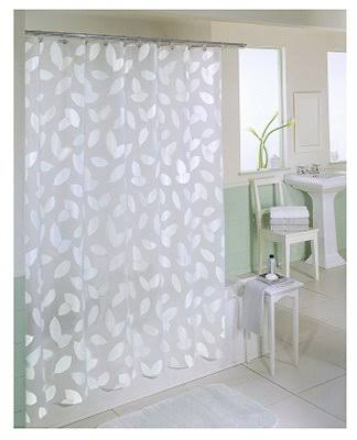 Ex-Cell Modern Leaf Shower Curtain White