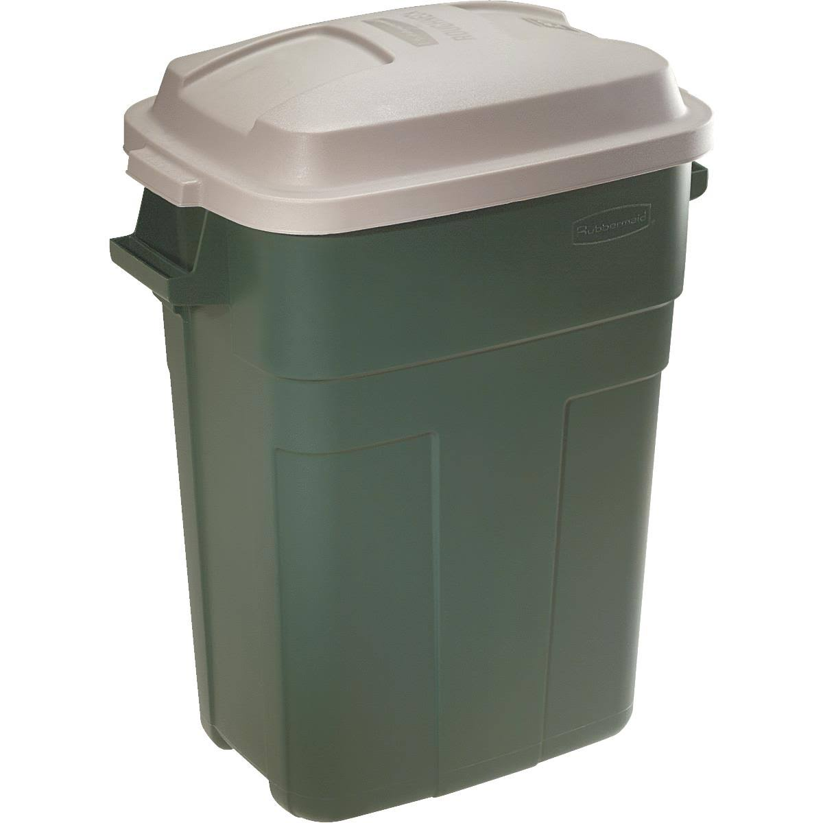 Rubbermaid 2979evg Roughneck Trash Container - Plastic Gold, 30gal