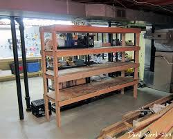 storage shelf for the basement