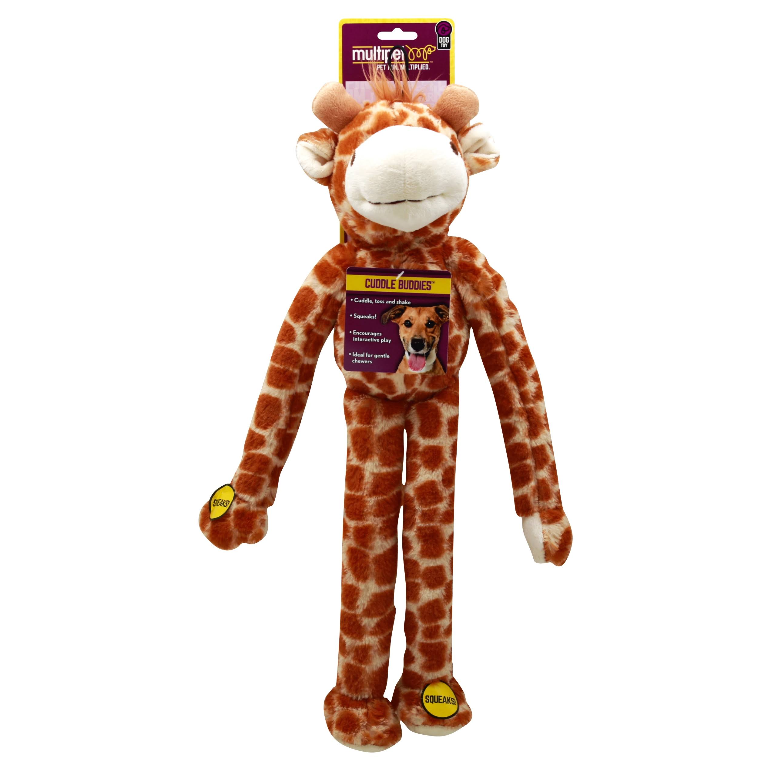 Multipet Swingin Safari Giraffe Plush Dog Toy - Large