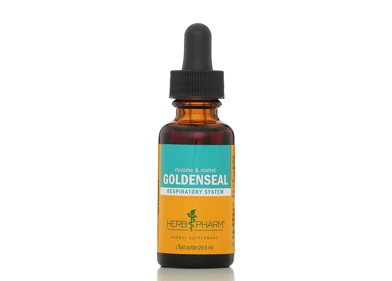 Herb Pharm Certified Organic Goldenseal Extract for Respiratory System Support - 1oz