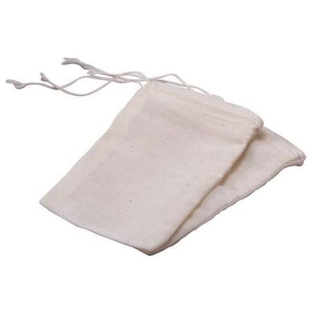 "Frontier Natural 6059 Cotton Drawstring Bags - 3""x5"", 12ct"