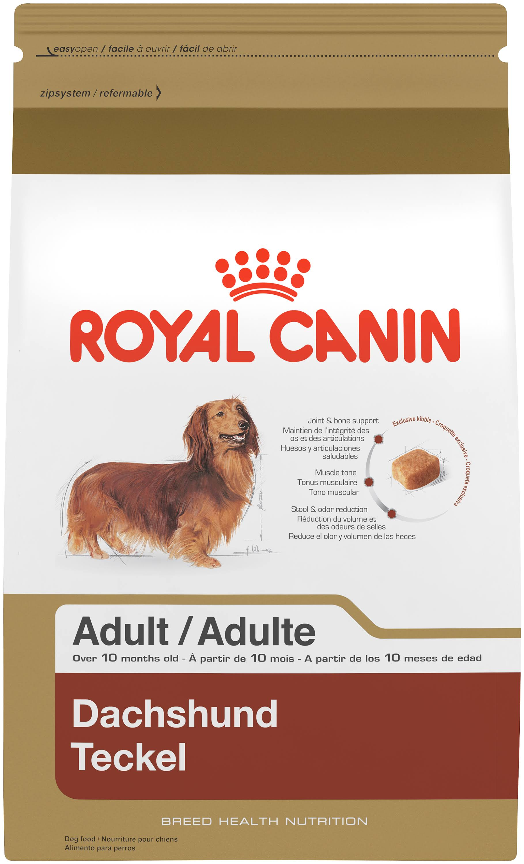 Royal Canin Adult Dry Dog Food - Dachshund, 2.5lbs