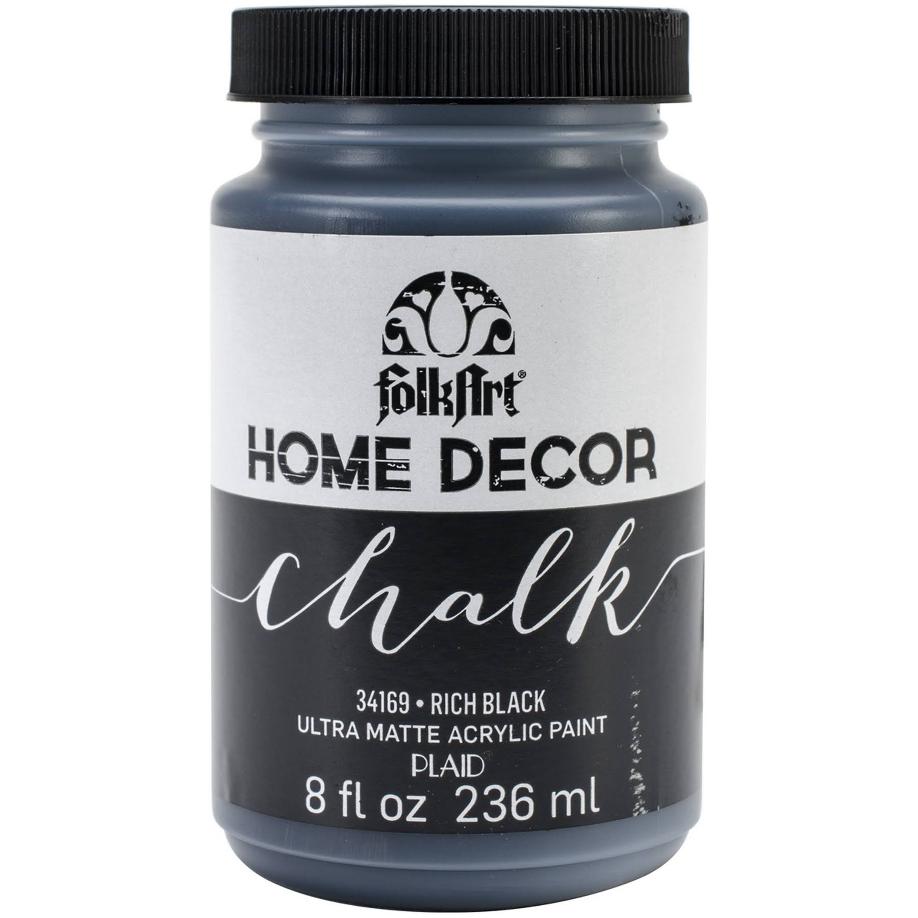 FolkArt Home Decor Chalk Paint - Black, 236ml