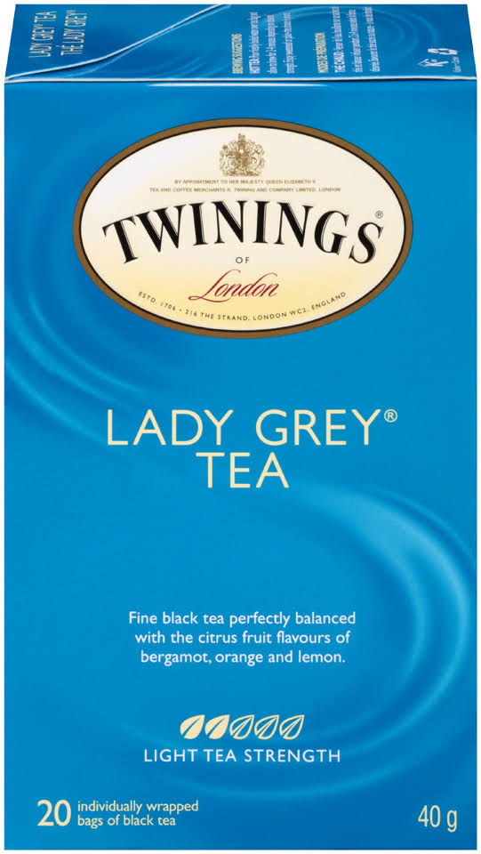 Twinings Of London Tea Bags - Lady Grey Light, 40g, 20ct
