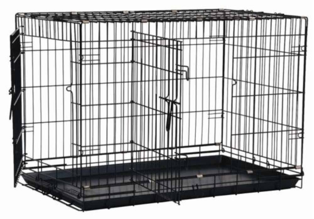 Precision Pet Double Door Dog Crate - Black, 36 x 23 x 26''