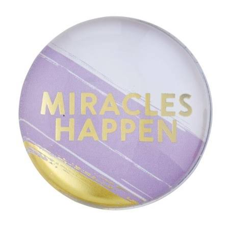 Heartfelt 146364 1.5 in. Dia. Miracles Happen Magnet Christian Verse