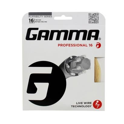 Gamma Professional 16 Live Wire Tennis String - Natural, 16ga