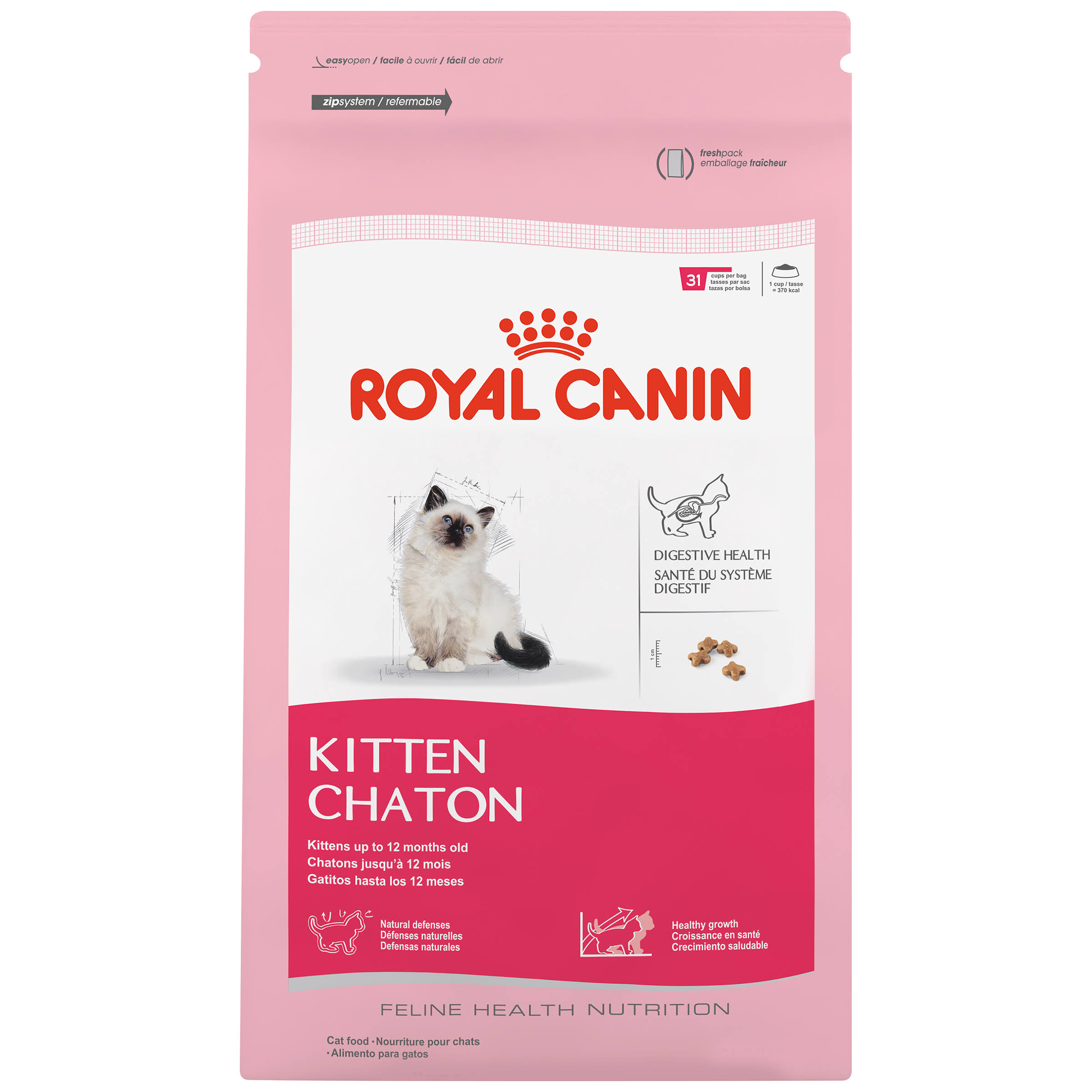 Royal Canin Kitten Feline Health Nutrition Dry Cat Food - 3.5lbs
