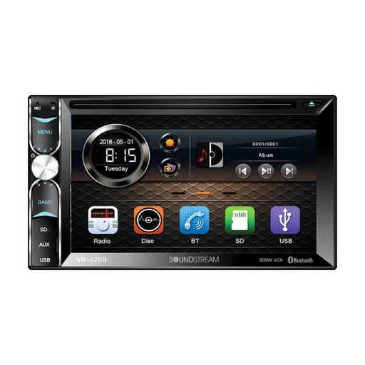 "Soundstream - VR-620B - 2-DIN 6.2"" In-Dash DVD Multimedia Car Receiver"