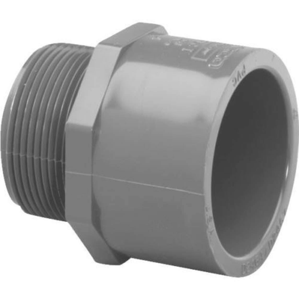 Genova 304158 PVC Male Adapter - Schedule 80, 1-1/2""