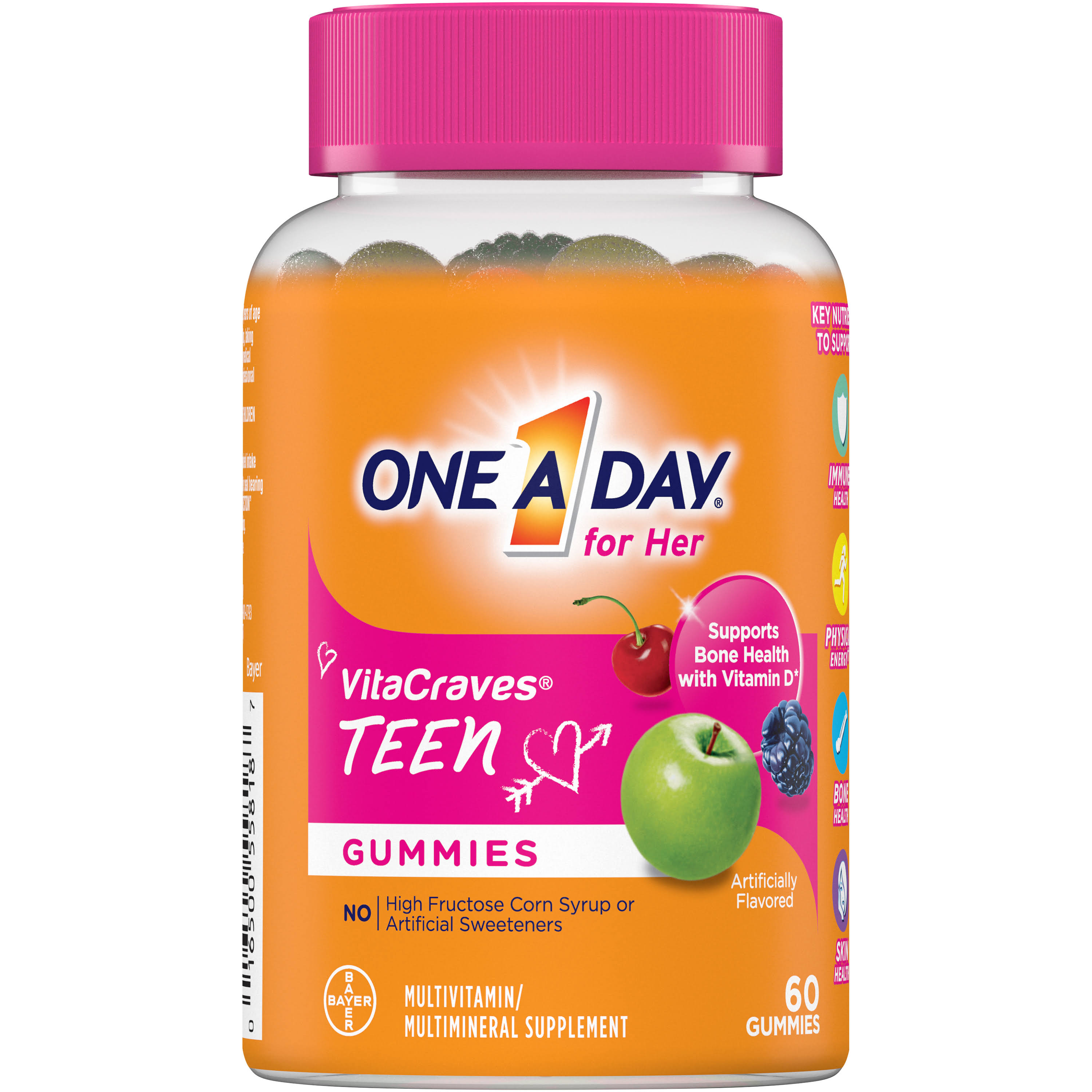 One a Day Teen for Her Vita Craves Multivitamin and Mineral Supplement Gummies - 60ct