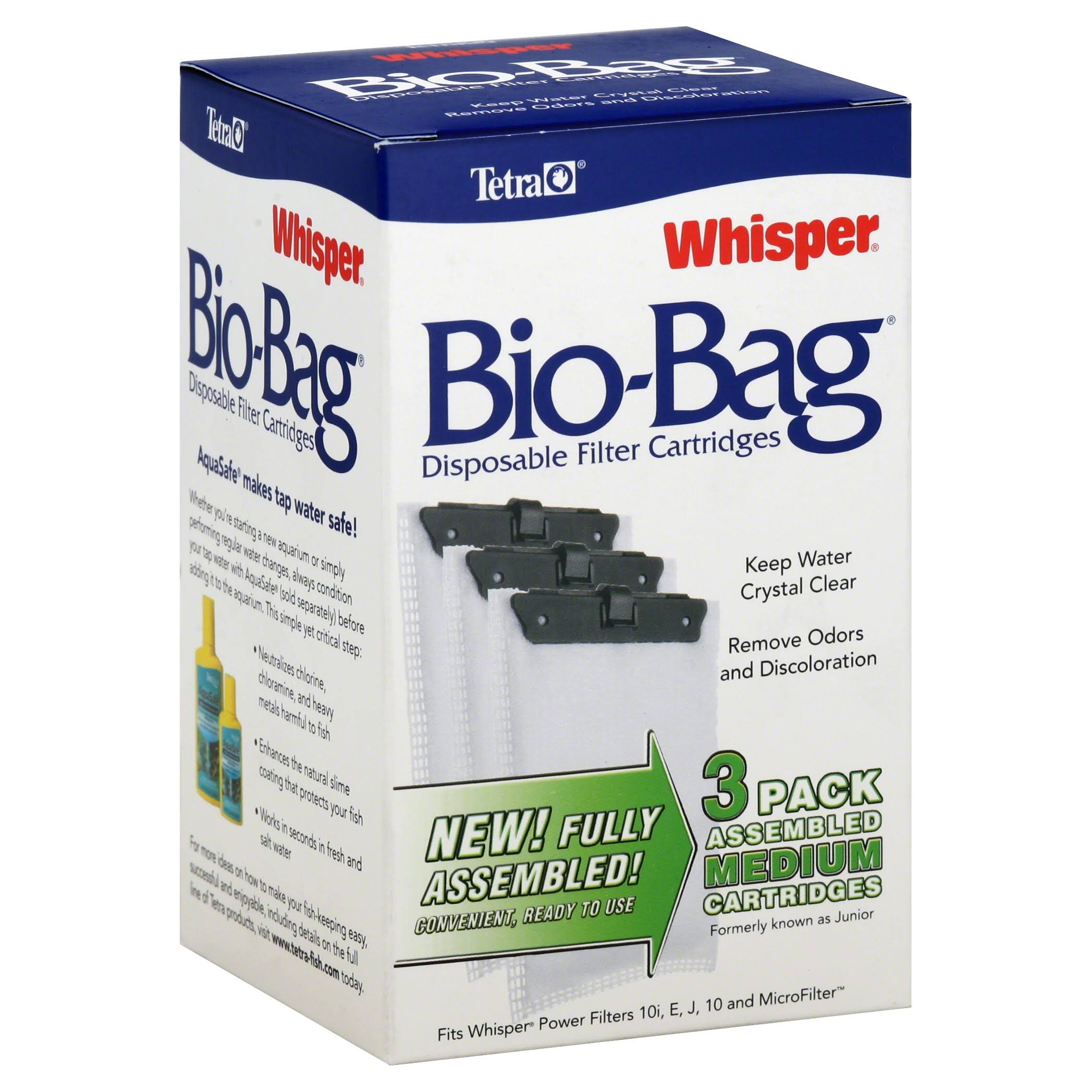 Tetra 26169 Whisper Bio-Bag Disposable Filter Cartridge - Medium, 3 pk