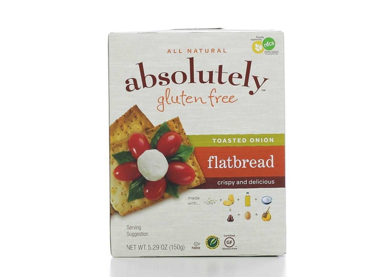 Absolutely Gluten Free Flatbread - Toasted Onion, 5.29oz