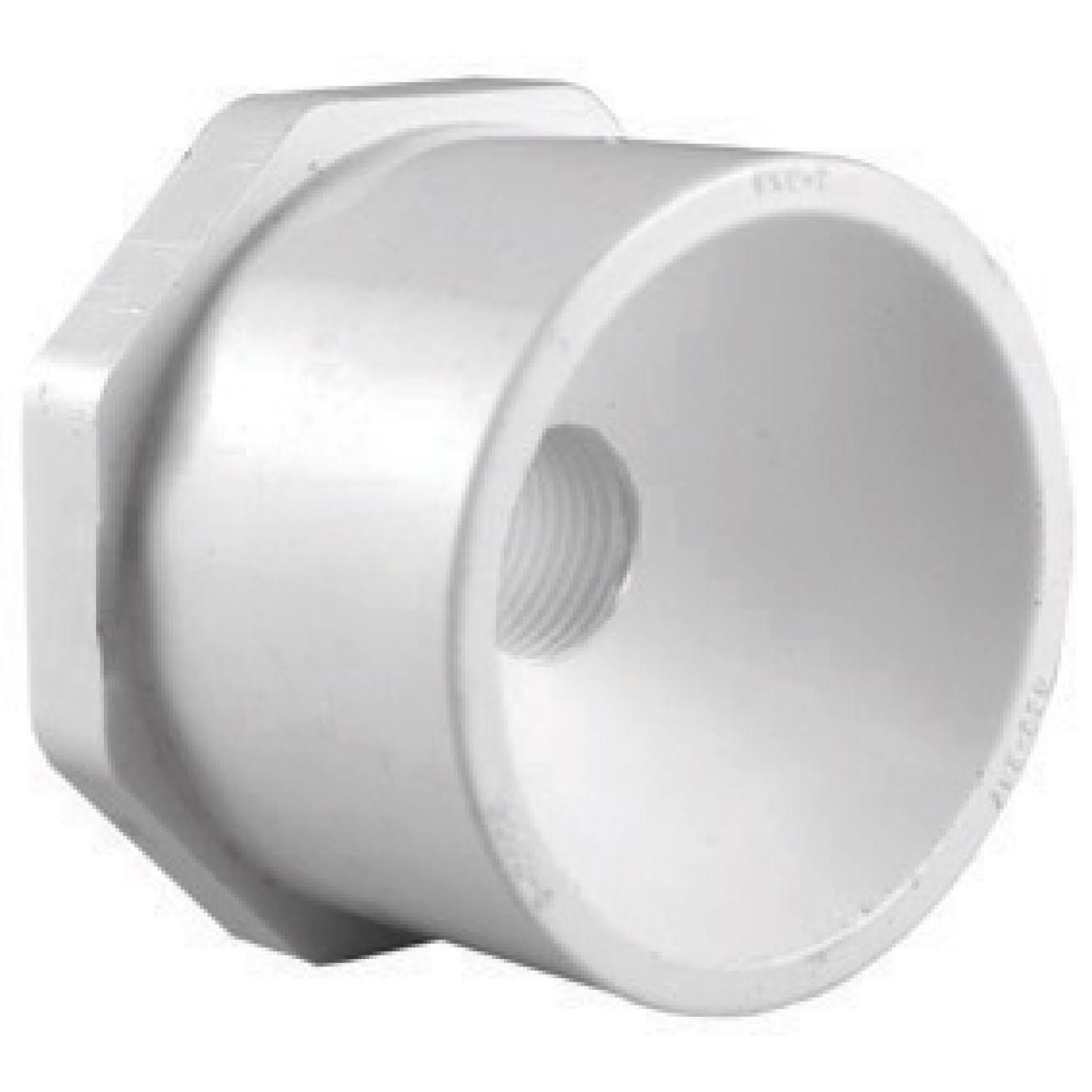 "Charlotte Pipe PVC Reducing Bushing - 2"" X 1 1/2"", White"
