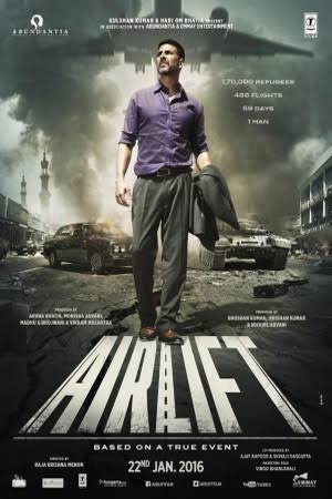 poster of movie airlift 2016 watch online dailymotion uploadbuz free download in hd mkv only at khatrimaza