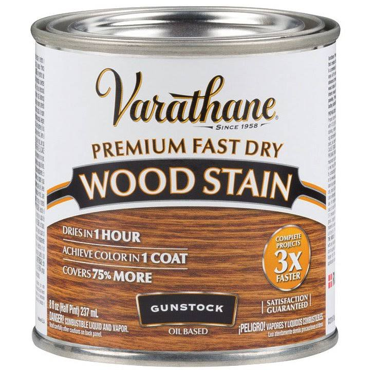 Varathane 262026 Fast Dry Oil Wood Stain - 1/2 Pint, Gunstock