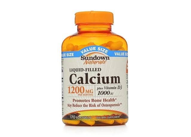 Sundown Naturals Calcium Supplement - 170 Softgels