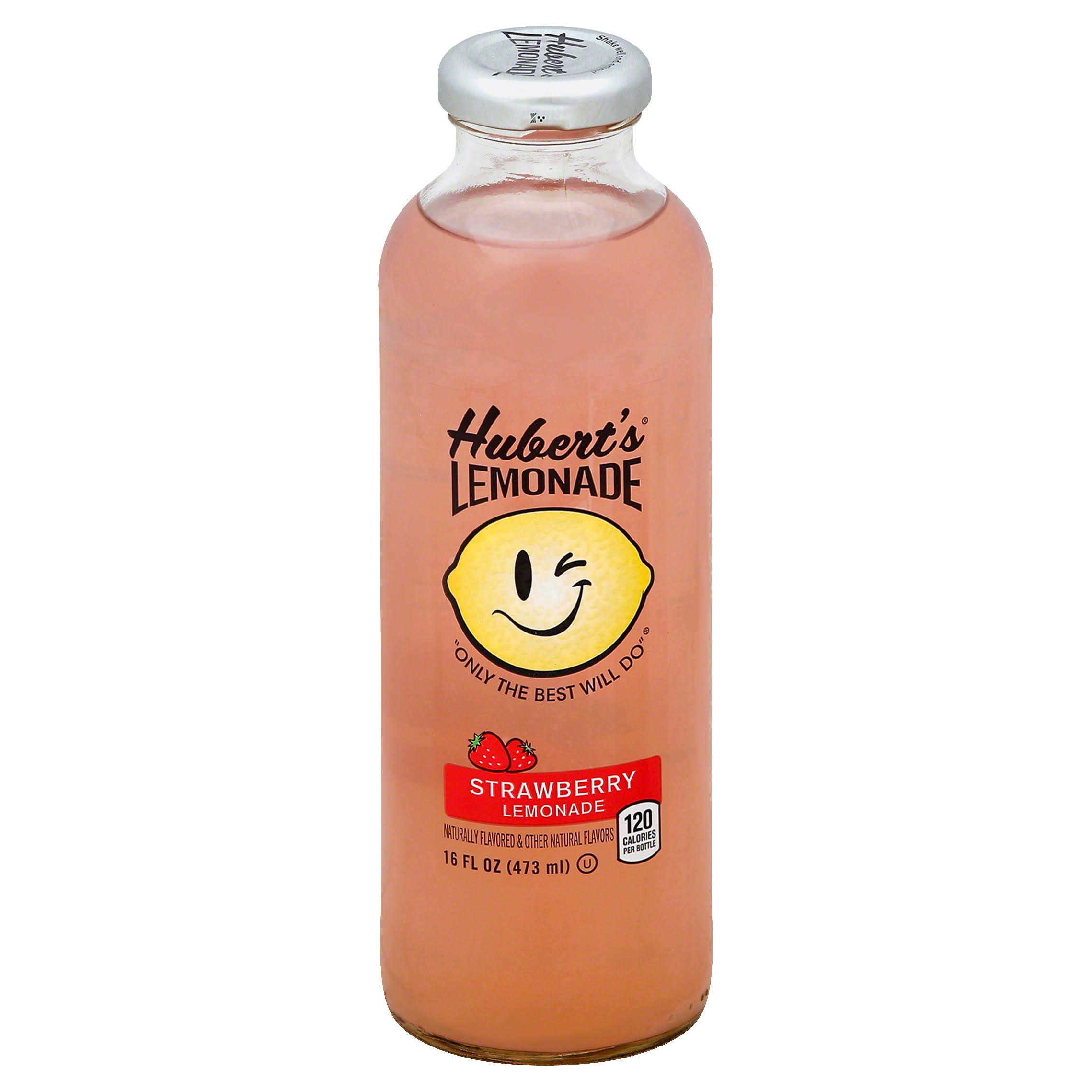 Huberts Lemonade, Strawberry - 16 fl oz