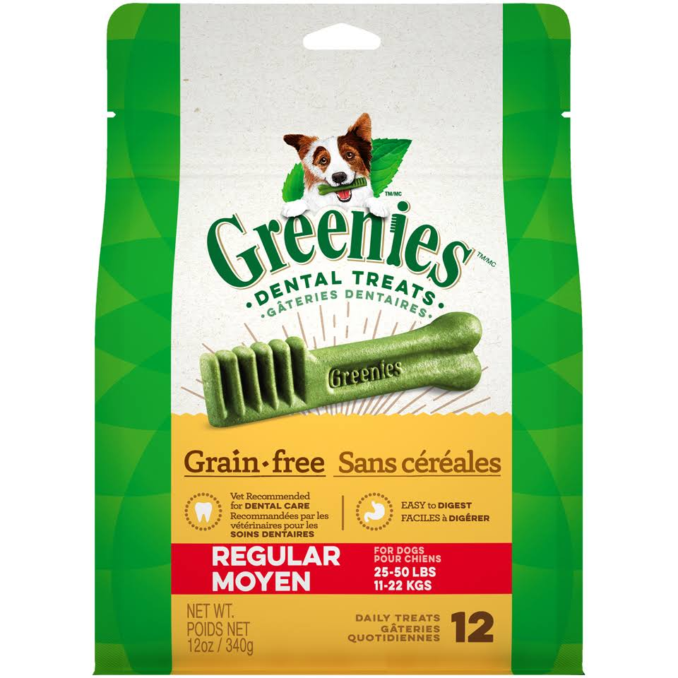 Greenies Grain Free Regular Dental Dog Treats