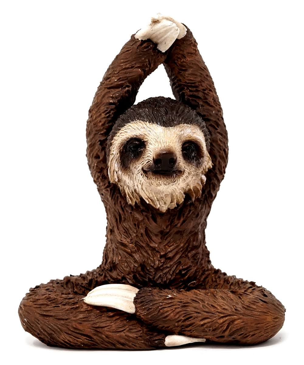 Top Collection Fairy Garden Yoga Sloth Figurine One-Size