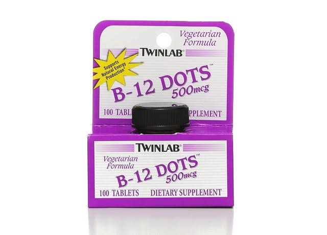 Twinlab B-12 Dots Dietary Supplement - 100 Tablets