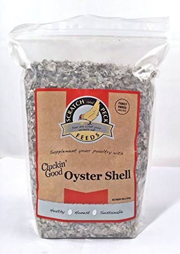 Scratch and Peck Feeds - Cluckin' Good Oyster Shell Supplement - Flaked - 4-lbs