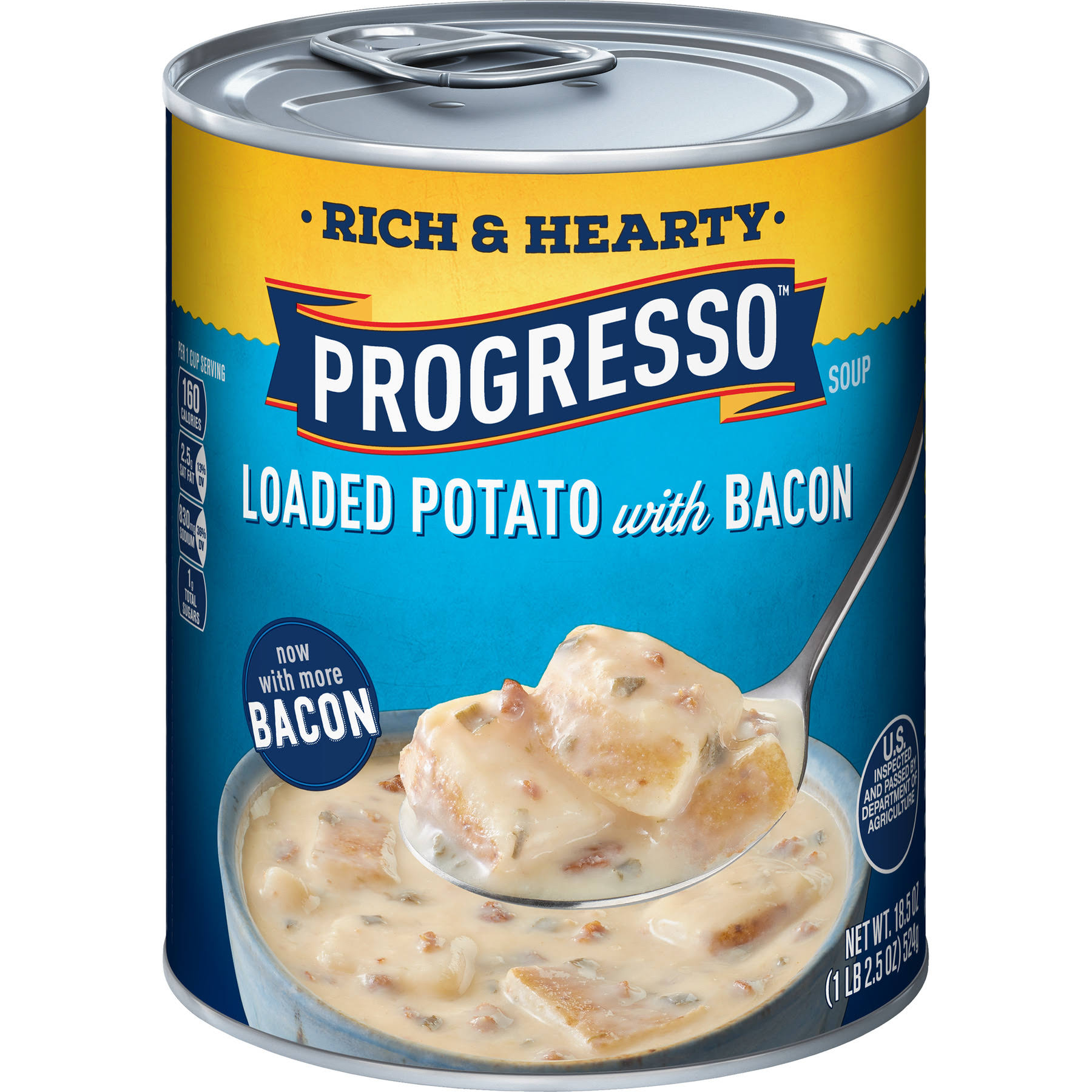Progresso Rich and Hearty Soup - Loaded Potato with Bacon, 18.5oz