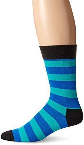 Happy Socks - Stripe Crew Socks | Men's Blue, Turquoise / 8-12