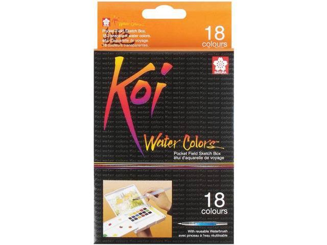 Sakura Koi Water Colors Pocket Field Sketch Box - 18 Colors