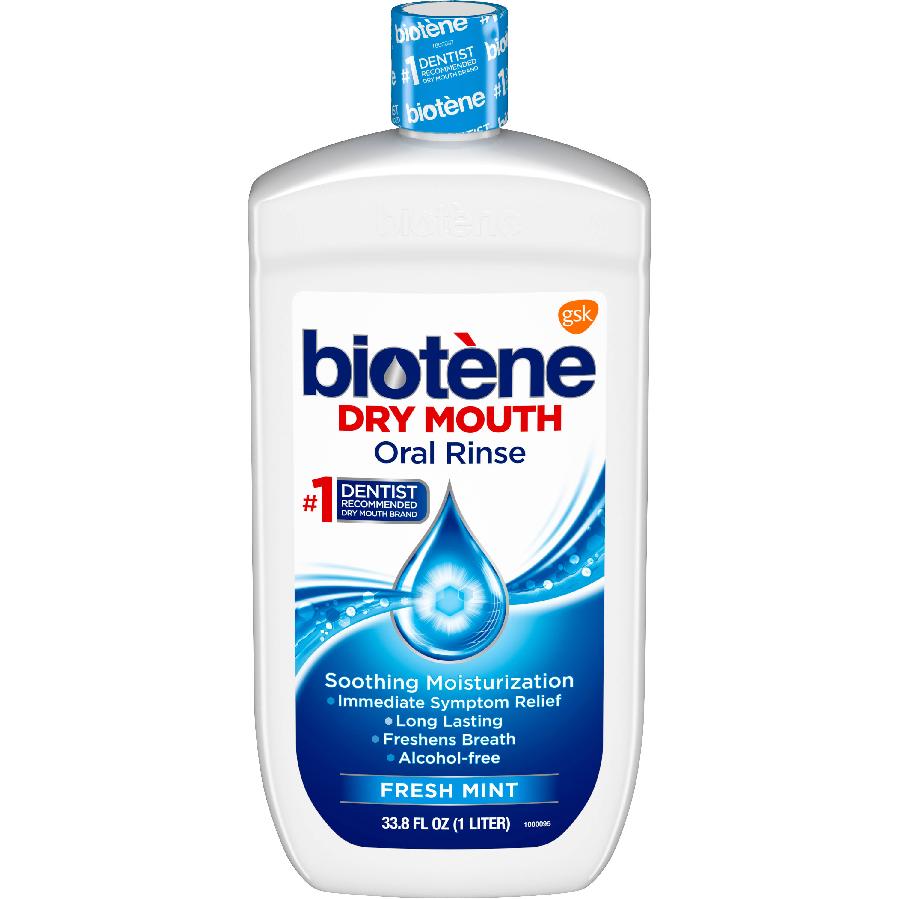 Biotène Dry Mouth Oral Rinse - Fresh Mint, 33.8oz