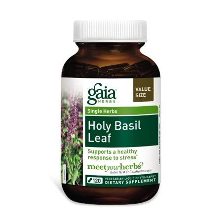 Gaia Herbs Holy Basil Leaf Dietary Supplement - 120 Liquid Phyto-Capsules