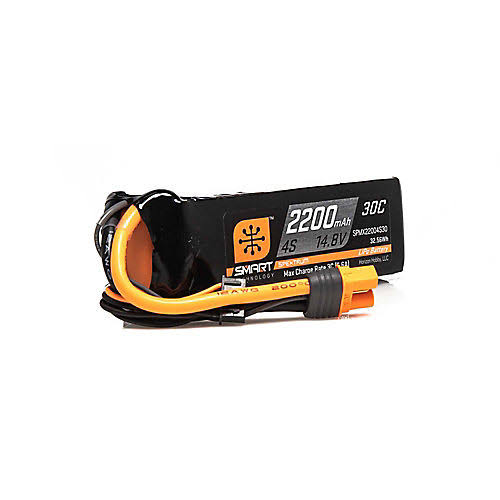 Spektrum 14.8V 2200mAh 4S 30C Smart Lipo Battery IC3 SPMX22004S30