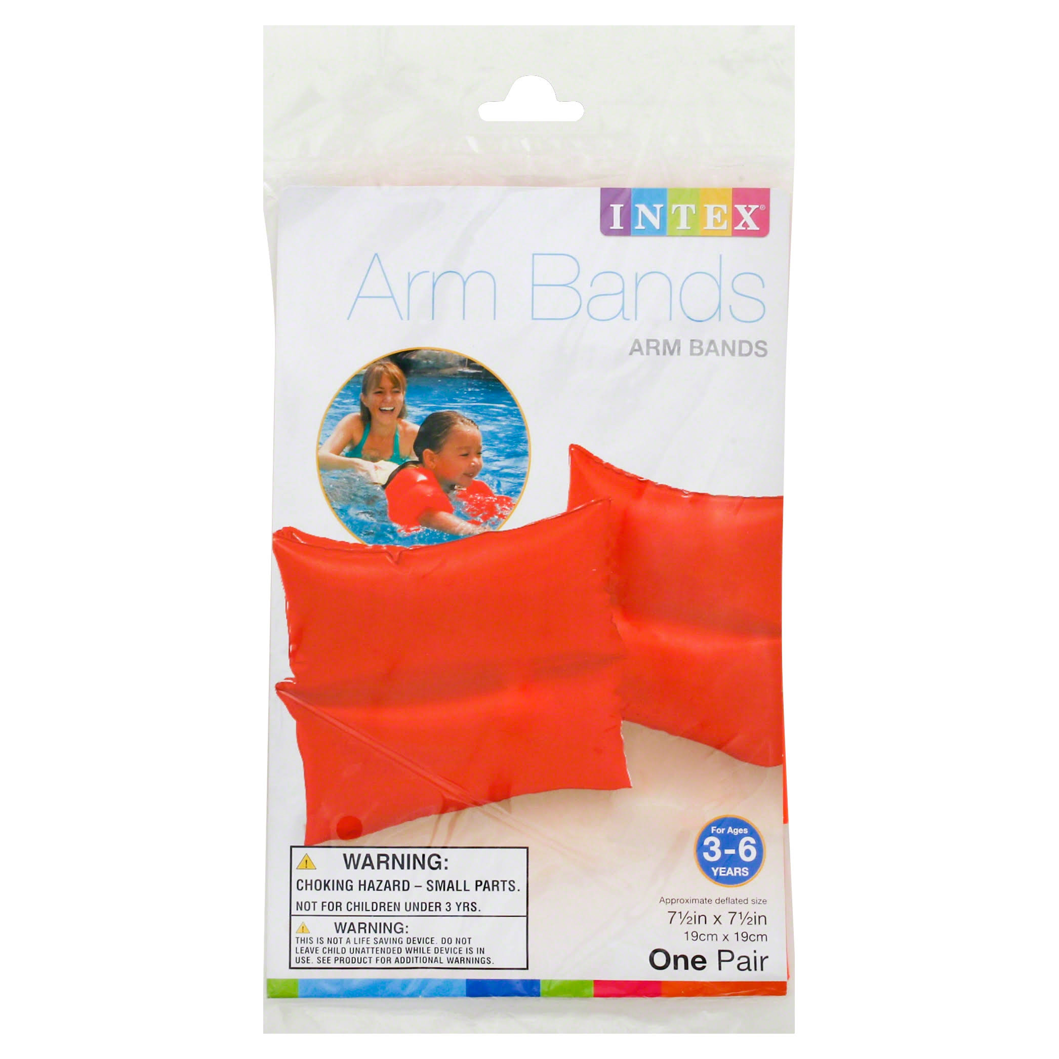 Intex Arm Bands, 7-1/2 x 7-1/2 Inches