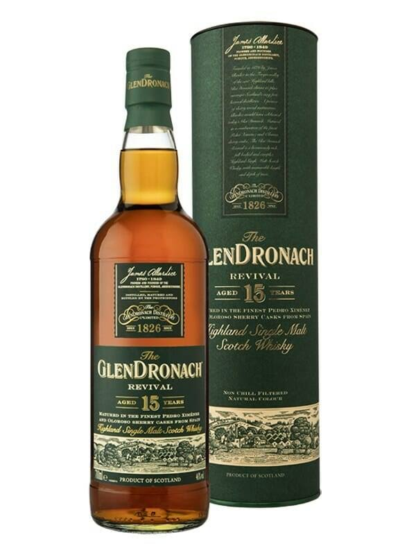 Glendronach Single Malt 15 Year Revival Scotch Whiskey - 750 ml bottle