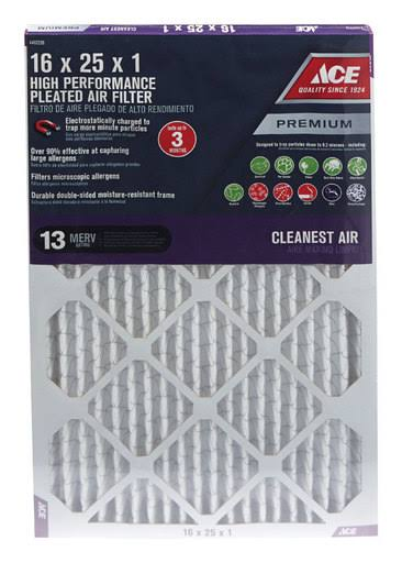 Ace Hardware Premium Allergen Reduction Pleated Furnace Filter